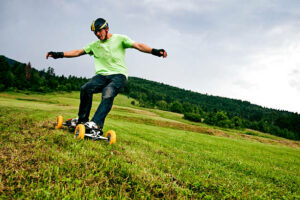 eco-adventure camp België mountainboard