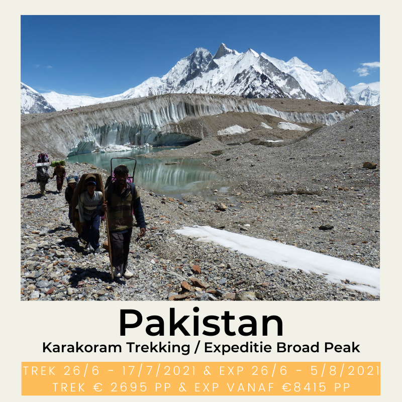 Pakistan trekking Karakoram Expeditie Broad Peak The Wildlinger