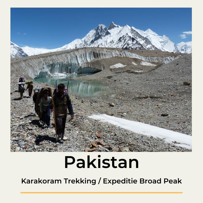 Pakistan Karakoram Trekking Expeditie Broad Peak The Wildlinger